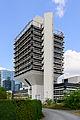 Funnel-shaped building in Frankfurt Niederrad Germany 2014 - 01.jpg