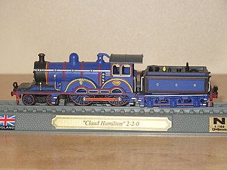 GER Classes S46, D56 and H88 - Model of the locomotive as built in GER blue livery, to 1:160 scale