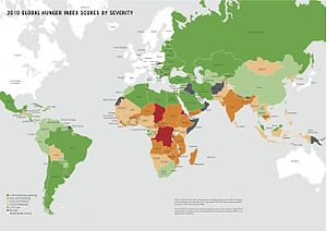 English: Map from the Global Hunger Index publ...