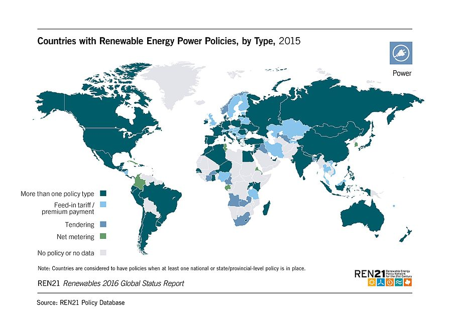 Renewable Energy Global Status report 2016