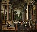 Galerij van een paleis met ornamentale architectuur en zuilen Zevendelige kamerbeschildering Een Galerij, SK-A-3937.jpg