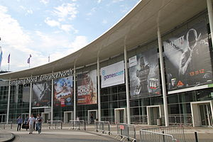 Call of Duty: Black Ops II - Call of Duty: Black Ops II advertisements are shown at Gamescom 2012 in Cologne, Germany