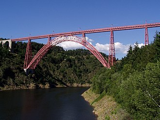 "The Cassandra Crossing - The Garabit Viaduct arch bridge was used to represent the condemned ""Cassandra Crossing""."