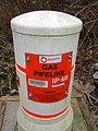 Gas pipeline marker, Barnfield Road, Swindon - closeup - geograph.org.uk - 366671.jpg