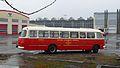 Gdańsk Wrzeszcz zajezdnia autobusowa (autobus ogórek).JPG