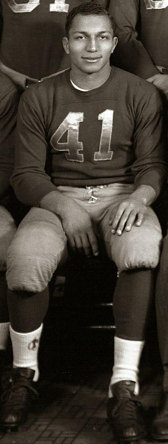 Gene Derricotte - Derricotte from 1948 team portrait