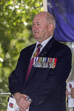 General Peter Cosgrove AC MC (Ret'd) at the Centenary of the Kangaroo March launch.jpg