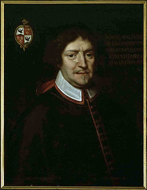Schetz - Mosignor Schetz de Grobbendonck, bishop of Ghent, with his crest.