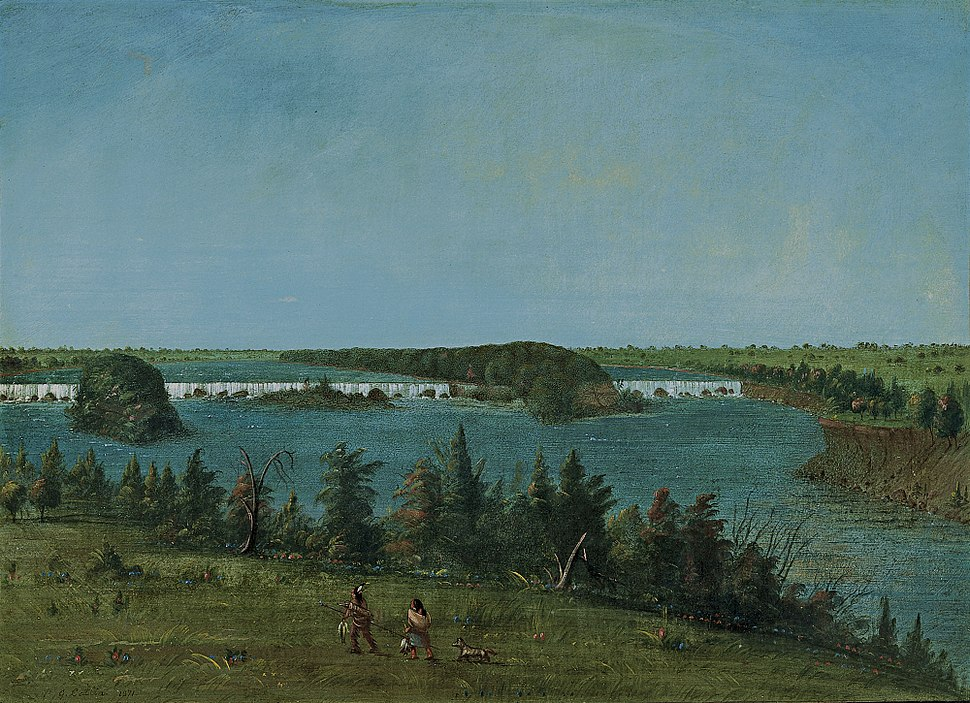 George Catlin- The Falls of Saint Anthony