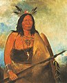 George Catlin - Kots-o-kó-ro-kó, Hair of the Bull's Neck, a Chief - 1985.66.49 - Smithsonian American Art Museum.jpg