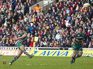 George Ford (rugby union) - Ford playing for Leicester Tigers (2012)