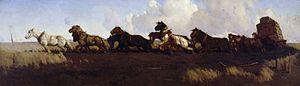 Wynne Prize - Image: George Lambert Across the black soil plains