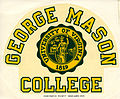 George Mason College, decal, ca. 1970.jpg
