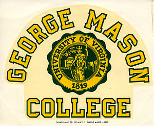 George Mason University - Decal from when George Mason College was a part of the University of Virginia