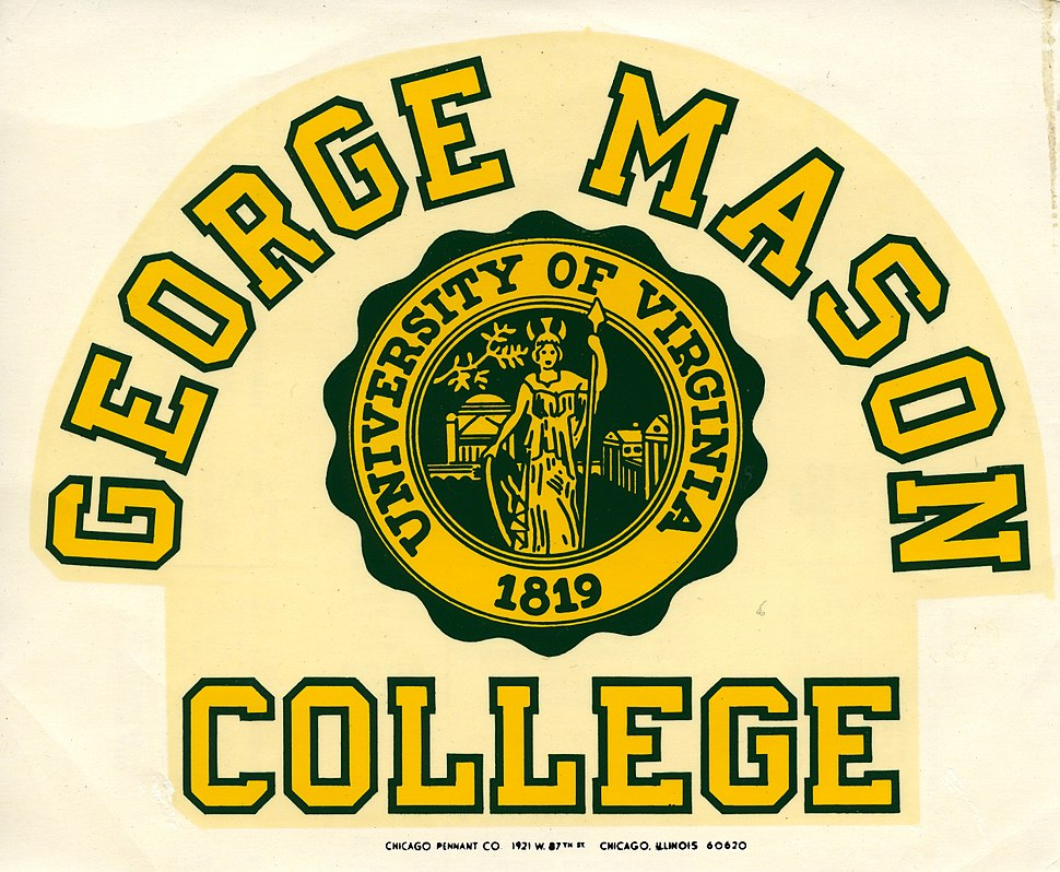 George Mason College, decal, ca. 1970