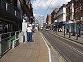 George Street tramstop look east.JPG