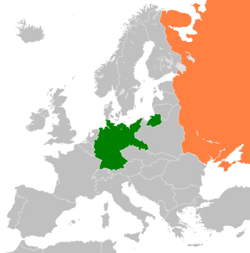 russia and germany map Germany Russia Relations Wikipedia