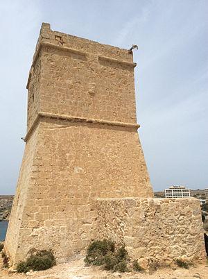 Għajn Tuffieħa Tower - View of the tower