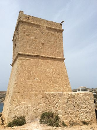 Għajn Tuffieħa Tower - View of the tower