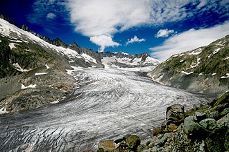Rhône Glacier - View towards the Tieralplistock