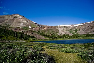 Uinta Mountains - Gilbert Peak seen from lake 151