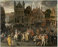 Gillis Mostaert I - Passion play on the city square in Antwerp.jpg