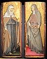 Giovanni di paolo, santa chiara e s. elisabetta d'ungheria, tavola, 31,5x12 cm ciascuna, coll privata.JPG