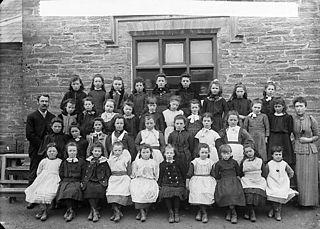 Girls, Newcastle Emlyn school (1892)