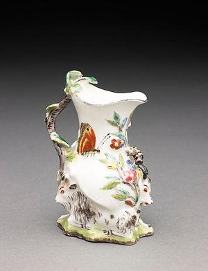 Chelsea porcelain factory - Image: Goatand Bee Jug BMA