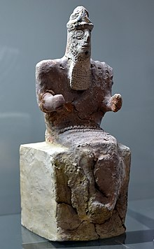 God Enlil, seated, from Nippur, Iraq. 1800-1600 BCE. Iraq Museum.jpg