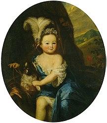 Godfried Schalcken: Portrait of Countess Natalya Andreevna Matveeva as a Child