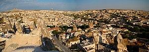 Göreme - Göreme town panorama.