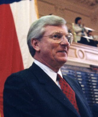 Mark White - Governor White delivering Farewell Address to Joint Session of the Texas Legislature on January 14, 1987