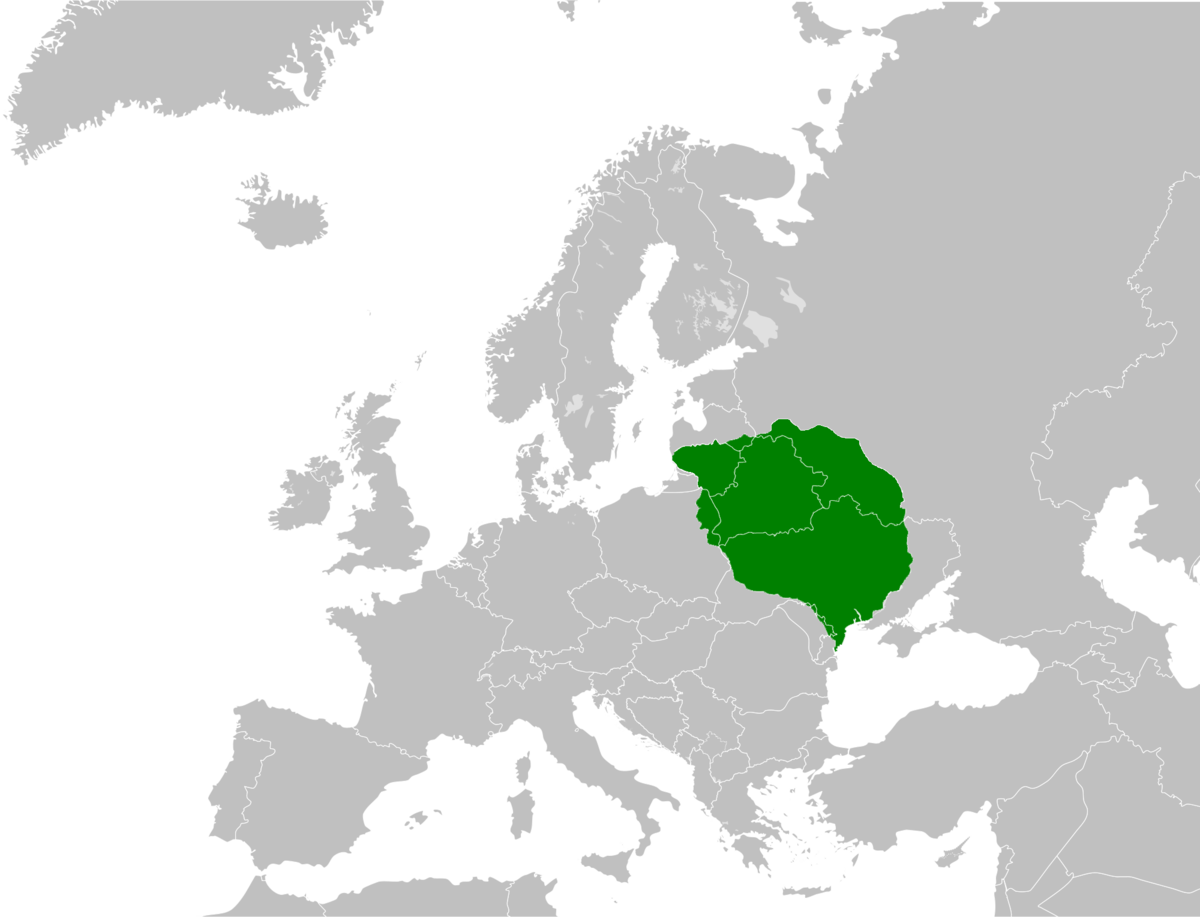 Grand Duchy Of Lithuania Wikipedia - Lithuania map