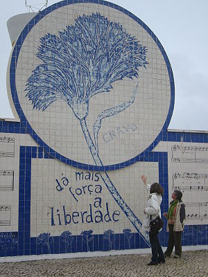Third Portuguese Republic - The carnation, the symbol of the Revolution that stated the Third Portuguese Republic.