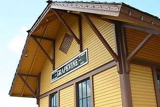 Grapevine, Texas - Image: Grapevine Train Station by Raymond Lafourchette