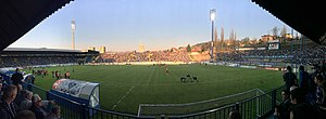 Stadion Grbavica - Stadium Grbavica ahead of match between Željezničar and Sloboda Tuzla, 1 April 2017.