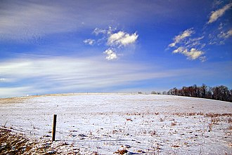 Greenwood Township, Columbia County, Pennsylvania - A snowy field in Greenwood Township