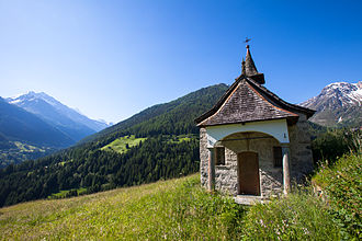 Canton of Valais - A view of Valais near the village of Grimentz in Val d'Anniviers