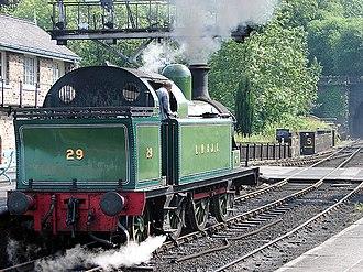 Lambton Railway - Preserved 0-6-2T Lambton Collieries locomotives No.29, as preserved on the North Yorkshire Moors Railway