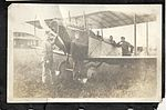 Group of airmen in and around a Curtiss JN-4 training aircraft, probably at Camp Rathbun, one of the Royal Flying Corps' training camps near Deseronto. (8512968873).jpg