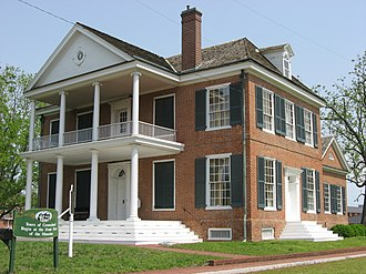 Grouseland, the home of Governor William Henry Harrison Grouseland front and southern side.jpg