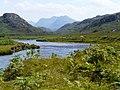 Gruinard river with Beinn Dearg - geograph.org.uk - 898040.jpg