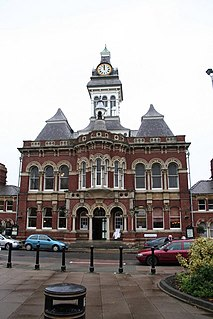 Grantham Guildhall Municipal Building in England