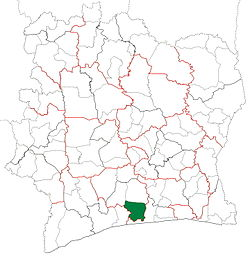 Location in Ivory Coast. Guitry Department has retained the same boundaries since its creation in 2009.