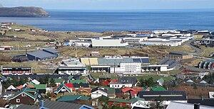 Gundadalur - View to Gundadalur and Hálsi, the sports area of Tórshavn.