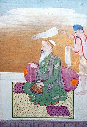 Guru Ram Das - Opaque watercolour on paper c 1800 Government Museum, Chandigarh