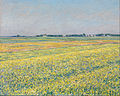 Gustave Caillebotte - The plain of Gennevilliers, yellow fields - Google Art Project.jpg