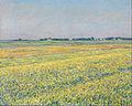 古斯塔夫·卡耶博特 - 平原Gennevilliers的,黄色的田野 - 谷歌艺术Project.jpg