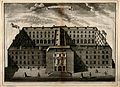 Guy's Hospital, Southwark; an aerial view. Engraving by T. B Wellcome V0013694.jpg